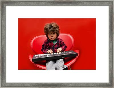 Exploring Piano Framed Print