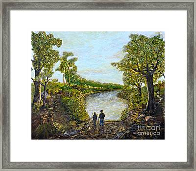 Exploring The Fontainbleau Framed Print