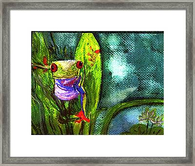 Exploring The Lily Pond 2 Framed Print by Christine Mulgrew