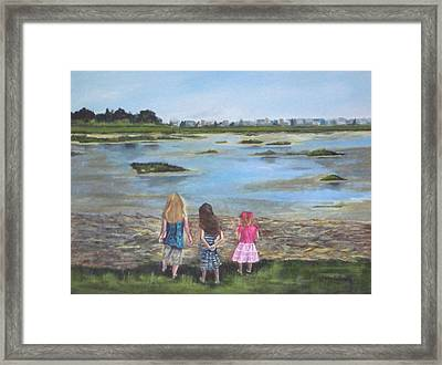 Exploring The Marshes Framed Print