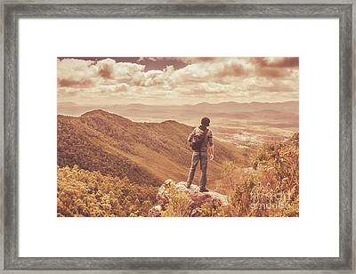 Exploring The Rugged West Coast Of Tasmania Framed Print by Jorgo Photography - Wall Art Gallery