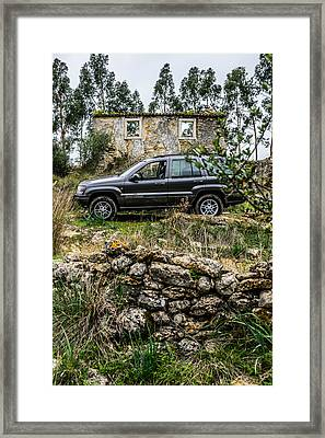 Exploring The Ruins Framed Print by Marco Oliveira
