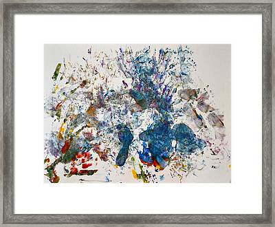 Explosion At The Macaroni Factory Framed Print