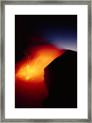 Explosion At Twilight Framed Print