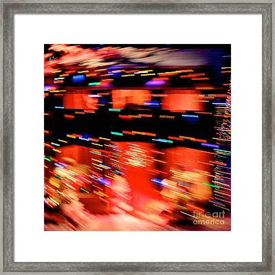 Explosion Framed Print by Chris Dutton