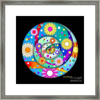 Explosion Of Joy Framed Print by Gloria Di Simone