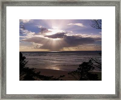 Explosion Of Light Framed Print
