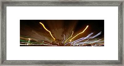 Explosion Of Lights Framed Print