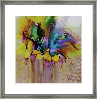 Framed Print featuring the painting Explosion Of Petals by Joanne Smoley