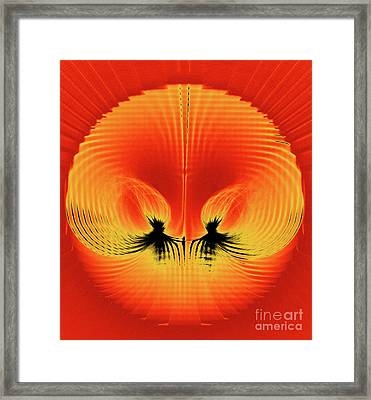 Explosive Eruption Framed Print