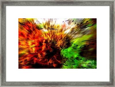 Explosive Exposition Framed Print