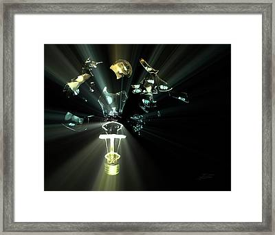 Explosive Ideas Framed Print by Barbara  White