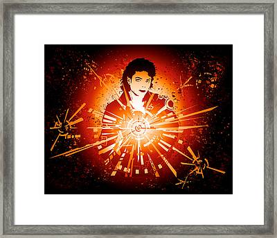 Energy Force Of Michael Jackson Framed Print by Adz Akin