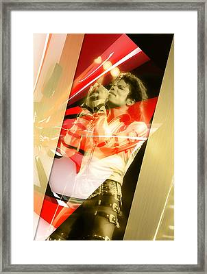 Explosive Michael Jackson Framed Print