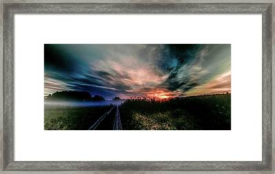 Explosive Morning #h0 Framed Print