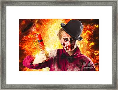 Explosive Terror. The Wraith Of Hell Fire Framed Print by Jorgo Photography - Wall Art Gallery