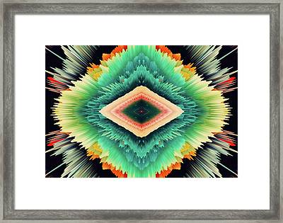 Exponential Flare Framed Print