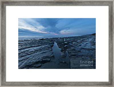 Exposed Rocks Only During Winter Framed Print by Masako Metz