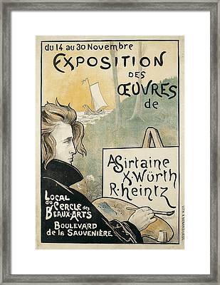Exposition Des Cuvres D'a Sirtaine Framed Print
