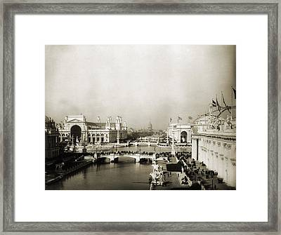 Exposition Grounds At The 1893 Worlds Framed Print
