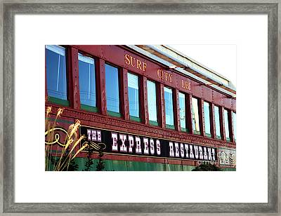 Framed Print featuring the photograph Express Restaurant by John Rizzuto