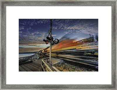 Express Train Framed Print