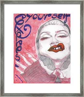 Express Yourself Framed Print