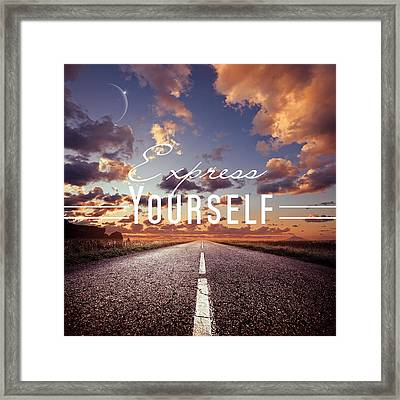 Express Yourself Framed Print by Mark Ashkenazi