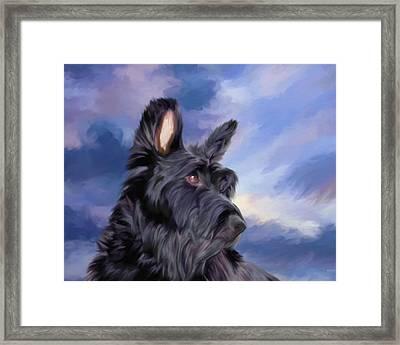 Expression Is Everything Scottish Terrier Dog Framed Print