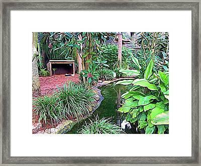 Expressionalism Beautiful Garden  Framed Print
