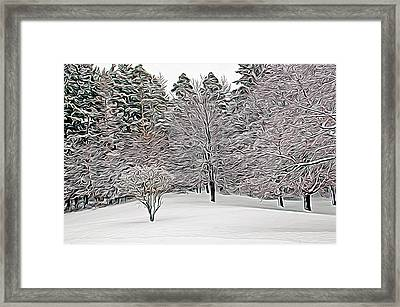 Framed Print featuring the photograph Expressionalism Fresh Snow Scene by Aimee L Maher Photography and Art Visit ALMGallerydotcom