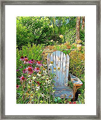 Expressionalism Garden Of Paradise Framed Print