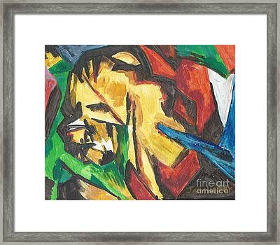 Framed Print featuring the painting Expressionism by Janelle Dey