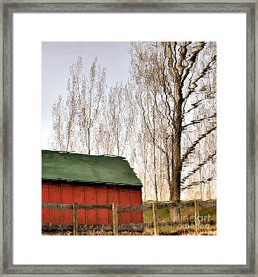 Expressionism Reflected Framed Print by Steven Milner