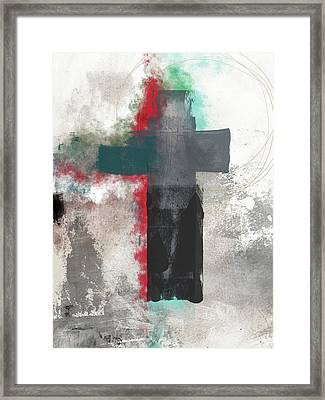 Expressionist Cross 4- Art By Linda Woods Framed Print