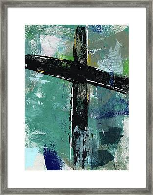 Expressionist Cross 8- Art By Linda Woods Framed Print