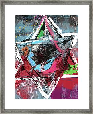 Expressionist Star Of David- Art By Linda Woods Framed Print