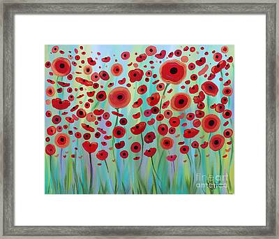 Expressive Poppies Framed Print