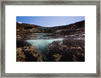 Expressive Rocks Framed Print
