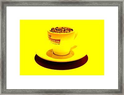 Expresso.piccolo.giallo Framed Print by Robert Litewka