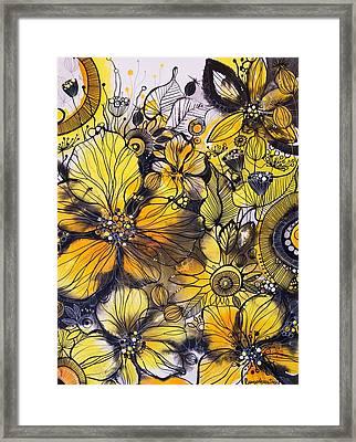 Exquisite Golden Flowers Framed Print by Irina Rumyantseva