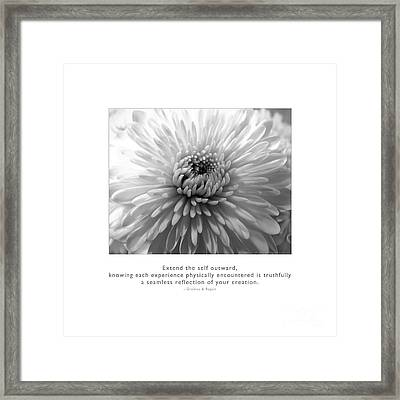 Extend The Self Outward Framed Print