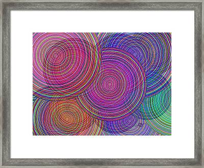 Extended Family Disagreement Join In Circles Of Confusion And Misunderstanding 1 Framed Print by Tony Rubino