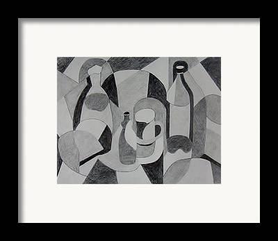 Bottlecap Drawings Framed Prints