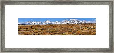 Extended Willow Flats Panorama Framed Print by Adam Jewell