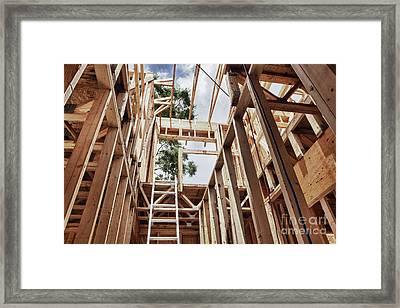 Extension Ladder And Framing Framed Print by Skip Nall
