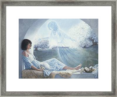 Exterior To One's Body Framed Print by Lucie Bilodeau