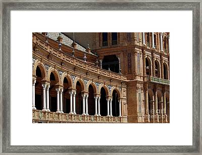 Exterior View Of The Plaza De Espana In Seville Framed Print by Sami Sarkis