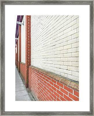 Exterior Wall Framed Print by Tom Gowanlock