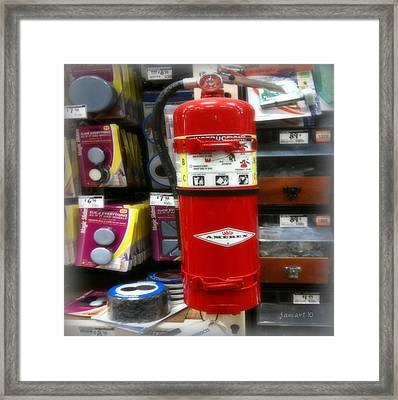 Extinguish The Fire Framed Print by Fania Simon
